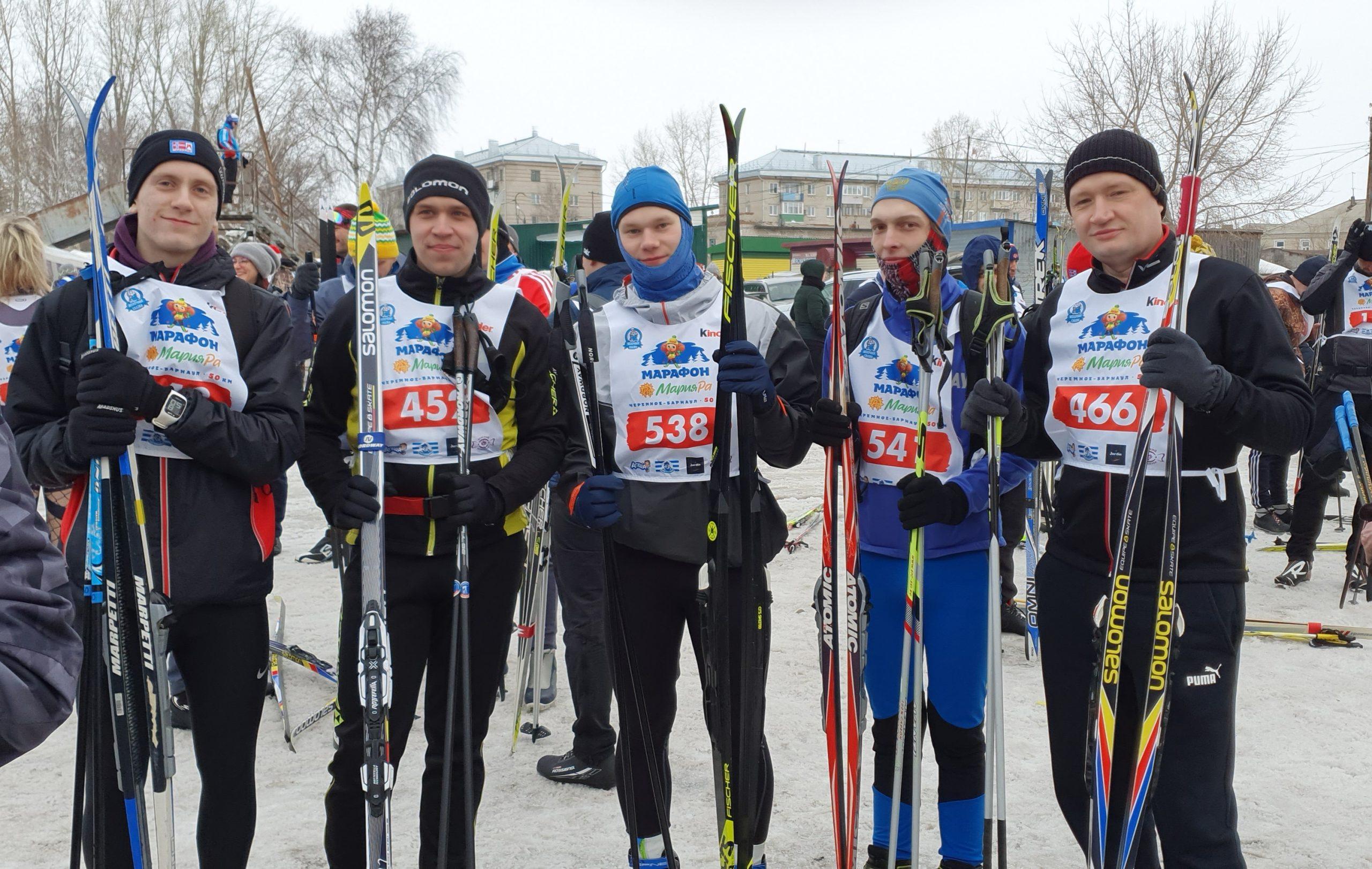 Математики приняли участие в лыжном марафоне